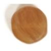 Glass Pressed Beads 8mm Flat Round Olive Matt